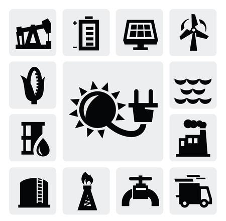 oliedrum: energie-industrie icoon Stock Illustratie