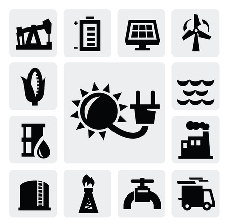 energy industry icon Stock Vector - 16704598