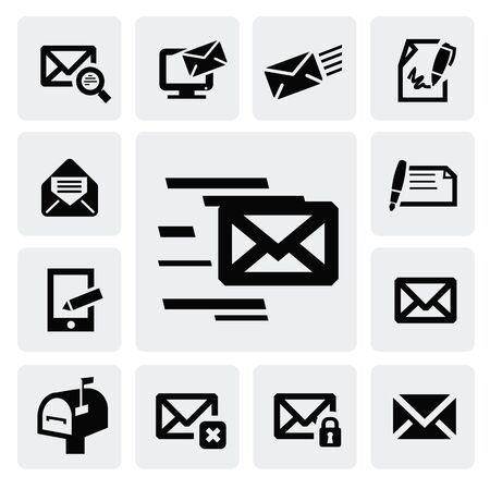 e-mail icons Stock Vector - 16704594