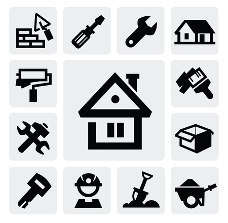 Construction icons Stock Vector - 16704596