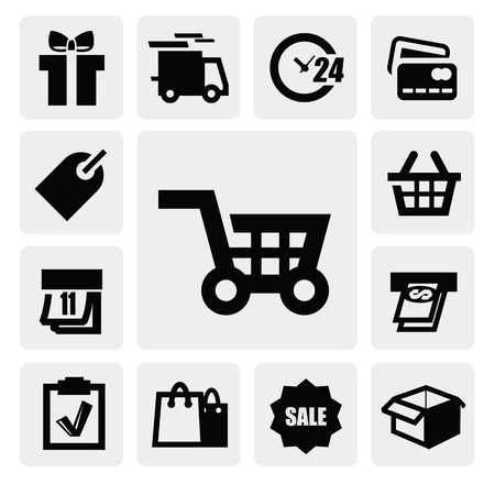 e store: Shopping icons Illustration