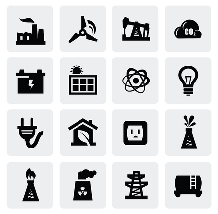 energy icon set Stock Vector - 16725717