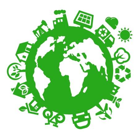 regenerative energie: gr�ne Welt Illustration