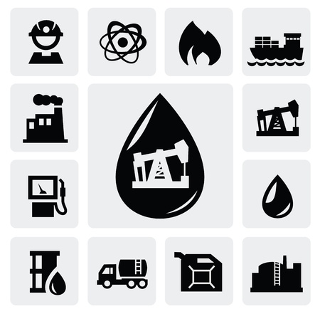 Oil and gas: oil icons