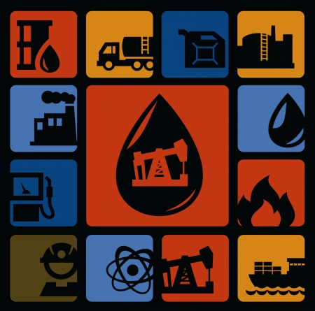 oil icons Stock Photo - 16725720