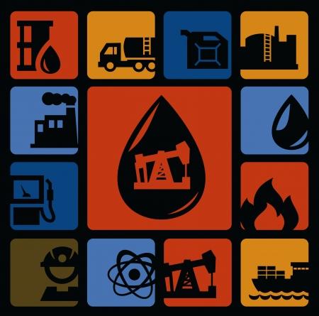 oil transportation: oil icons