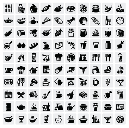 sandwiches: food icons set