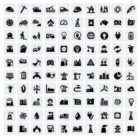 icone di industria set