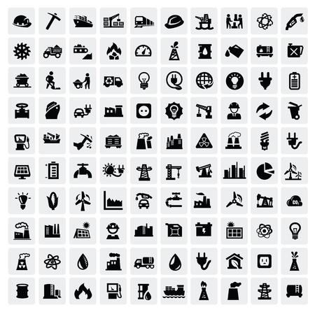 industrial icon: industry icons set