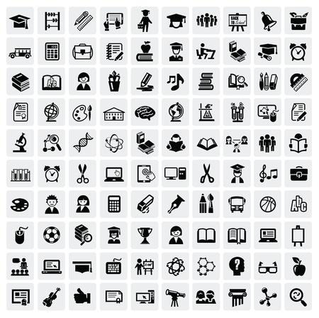 oktatás: oktatás ikonok Illusztráció