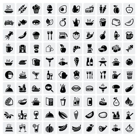 cooking: food icons set