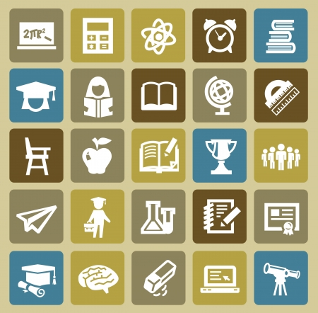 education icons Stock Vector - 16812533