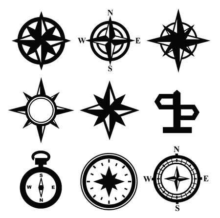 nautical star: Navegaci�n Vector Vectores