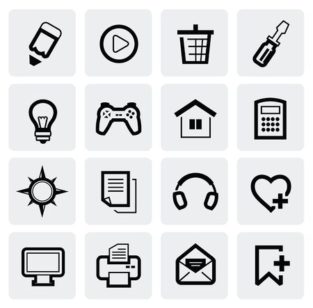 Web Icons Stock Vector - 16812534