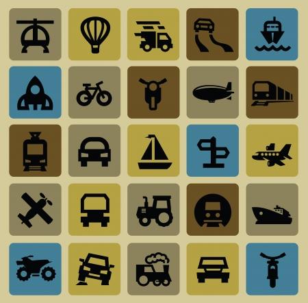 transportation icons: transportation icon set