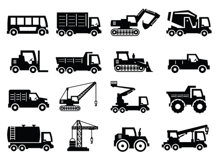 construction transport icons Stock Vector - 16812543