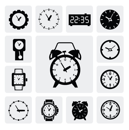 clock gears: clocks icons