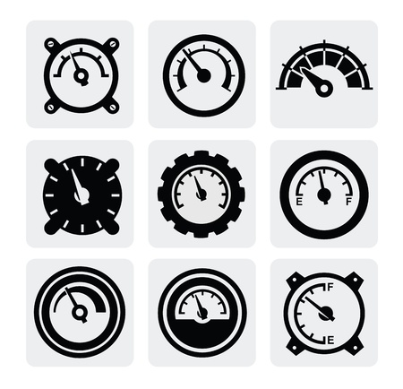 v�locit�: ic�nes de jauge Illustration