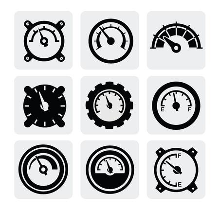 panel de control: iconos del medidor