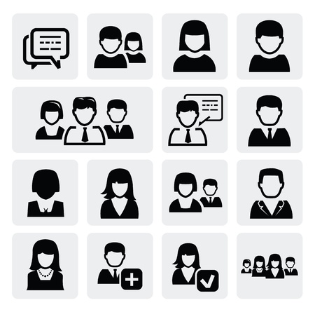 one people: people icons Illustration