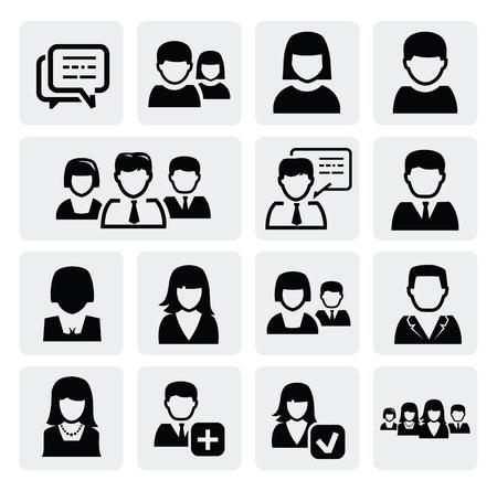 personas: personas iconos Vectores