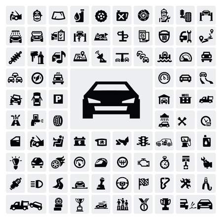 Iconos de automóviles Ilustración de vector