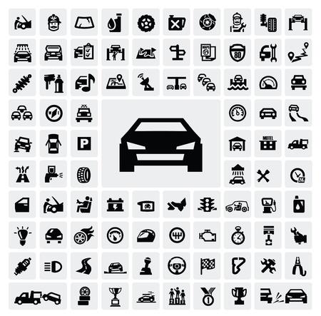 Ikony auto Ilustracje wektorowe