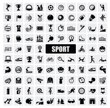Sports icons Vector