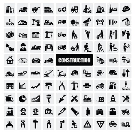 camion grua: construcción icono