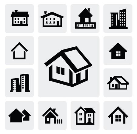 silhouette maison: ensemble immobilier
