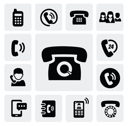 phone icons Stock Vector - 16891657