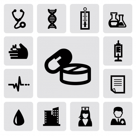 medical icons Stock Vector - 16912206