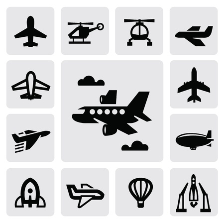 airplane icon Stock Vector - 16912205