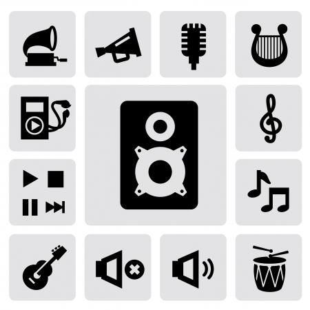 drum set: music icons Illustration