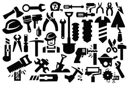 bolts and nuts: construction tools