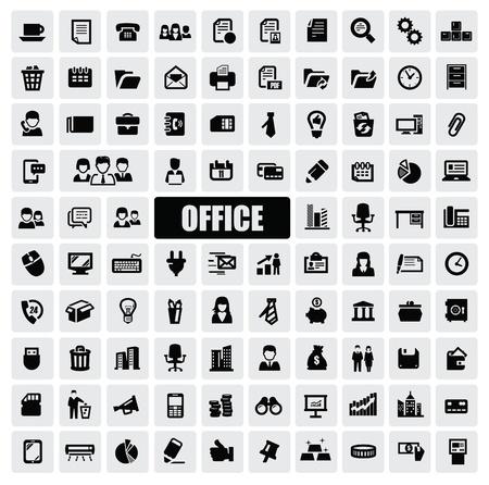 bank manager: Iconos de la oficina