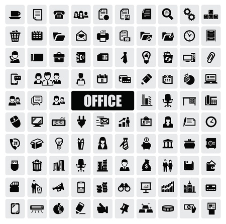 web icons: office icons