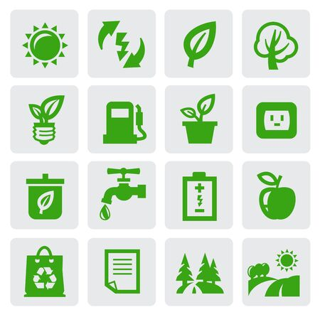 water recycling: green eco symbols