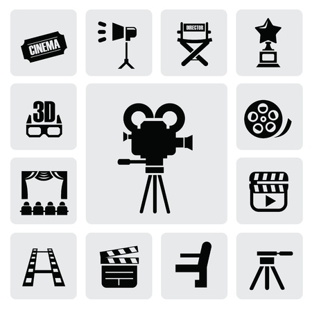 movie icon Stock Vector - 16912217