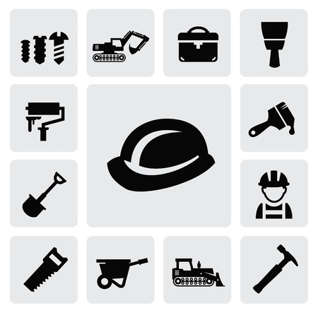 construction equipment: construction icon