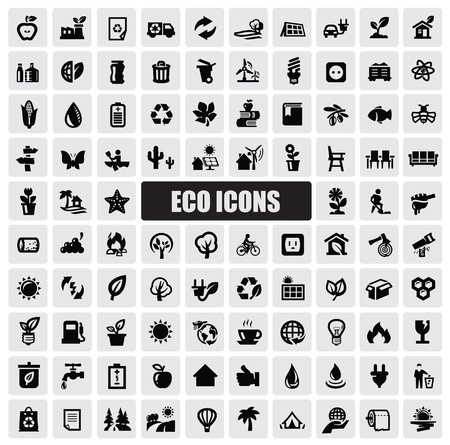 eco car: eco icons Illustration