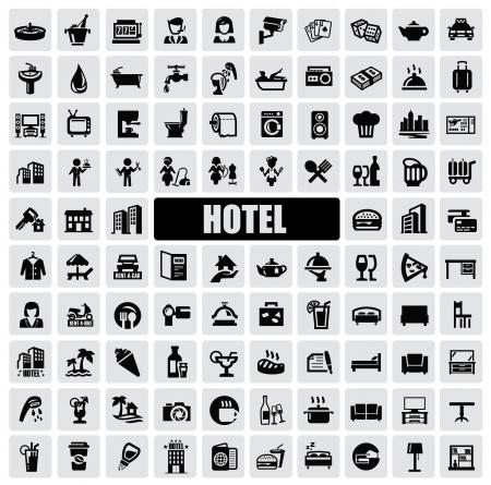 vacante: iconos de hotel