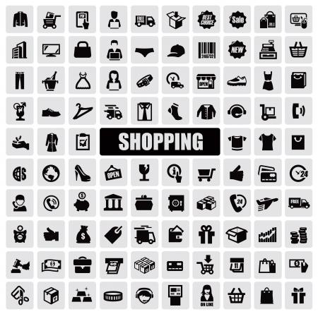 retail shop: iconos de compras