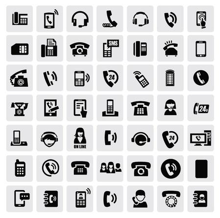 icônes de téléphone Vecteurs