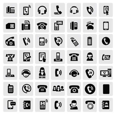 old office: phone icons
