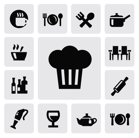 kitchen icons Stock Vector - 16936893