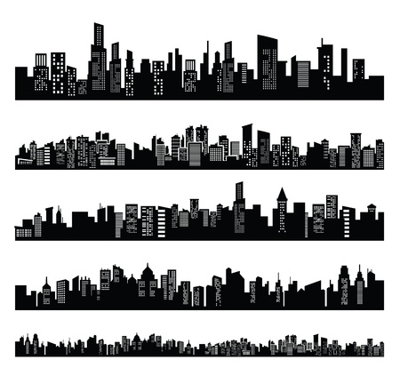 city scape: black city