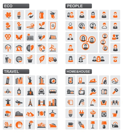 eco tourism: vector web icons