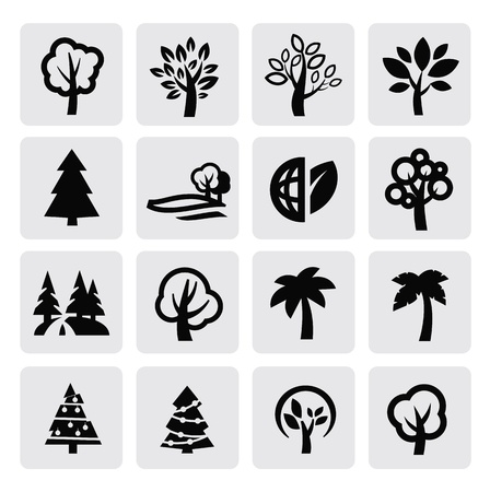 trees icon Stock Vector - 16976354