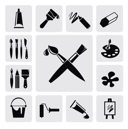 pincel: iconos del arte
